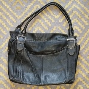 Sophia Caperelli Black Leather Bag